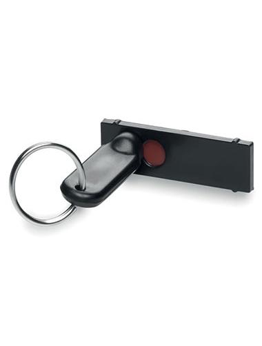Cache webcam noir sous forme de porte-clés