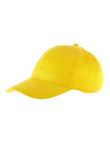 Casquette de couleur jaune