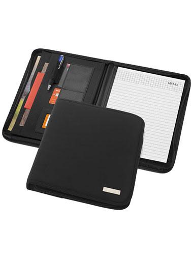Conférencier avec un passant pour stylo, poches pour documents et bloc-notes