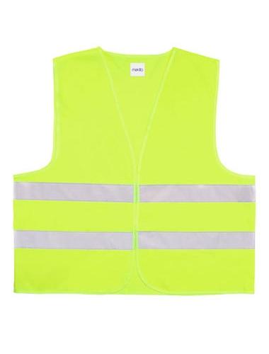 gilet de sécurité fluorescent jaune