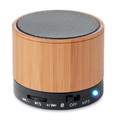 Mini enceinte Bluetooth en bambou écologique