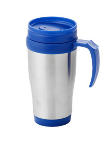 Mug isotherme en acier inoxydable et plastique