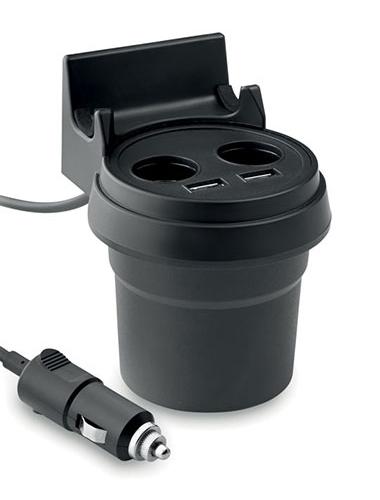 chargeur de voiture multifonction avec deux ports USB