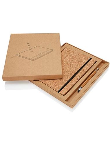 Carnet de notes avec stylo en bambou