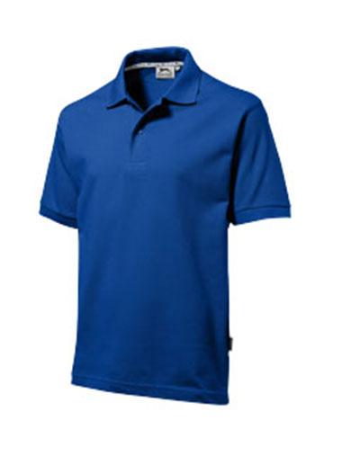 Polo de couleur bleu